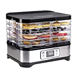 Micho 2018 PRO Smart Food Dehydrator with 5 Drying Trays, Electric Multi-Tier Fruit Vegetable Dryer,...