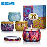Y YUEGANG Scented Candles Gift Sets, Natural Soy Wax 4.4 Oz Unit Portable Travel Tin Perfect for...