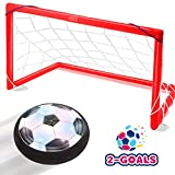 Toyk kids Toys - LED Hover Soccer Ball Set 2 Goals Mini Screwdriver - Air Power Training Ball...