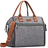 Insulated Lunch Bag, MOKALOO Large Capacity Lunch Tote Box With Removable Shoulder Strap,...