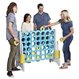 ECR4Kids Jumbo 4-to-Score Giant Game Set - Oversized 4-in-A-Row Fun for Kids, Adults and Families -...