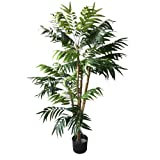 Pure Garden 5 Foot Artificial Palm Tree - Large Faux Potted Tropical Plant for Indoor or Outdoor...
