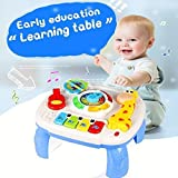 HOMOFY Baby Toys Musical Learning Table 6 Months Up- Early Education Activity Center Multiple Modes...