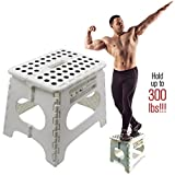 Super Strong Folding Step Stool - 11' Height - Holds up to 300 Lb - The lightweight foldable step...