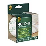 Duck Brand 519244 Hold-It Adhesive for Rugs, 2.5-Inch x 25-Feet, Single Roll, 2.5 Inch, White