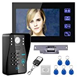 Touch Key 7' Lcd RFID Password Video Door Phone Intercom System Kit+ Electric Strike Lock+ Wireless...