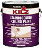 KILZ Color-Change Stainblocking Interior Ceiling Paint, White, 1-gallon