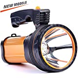 CSNDICE 35W LED Rechargeable Handheld Searchlight, High-power Super Bright 9000mah 6000 Lumens, USB...