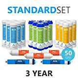 Express Water - 3 Year Reverse Osmosis System Replacement Filter Set - 23 Filters with 50 GPD RO...