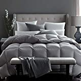 Globon Fusion White Goose Down Comforter King Size 60oz Fill Weight, 600 Fill Power, Upgraded 100%...