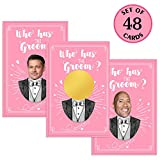 MORDUN Bridal Shower Games - Who Has the Groom Scratch off Cards for 48 Guests - Funny Bachelorette...