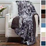The Connecticut Home Company Luxury Faux Fur with Sherpa Reversible Throw Blanket, Super Soft, Large...