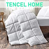 White Cotton Comforter King Size, Cotton duvet for Cooling, Down Alternative Fill Quilted Duvet...