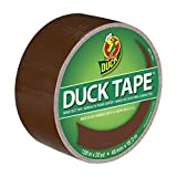 Duck Brand 1304965 Color Duct Tape, Brown, 1.88 Inches x 20 Yards, Single Roll