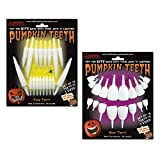 Halloween Pumpkin Carving Kit - Pumpkin Teeth for your Jack O' Lantern (18 White Fangs and 18 White...