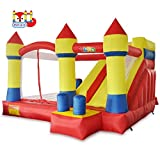 YARD Bounce House with Slide Obstacle Children Outdoor Jump Castle with Blower (13.1' x 12.5' x...