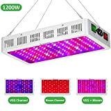 Exlenvce 1500W 1200W LED Grow Light with Bloom and Veg Switch, Daisy Chained Design LED Plant...