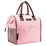 LOKASS Lunch Bag Insulated Lunch Box Wide-Open Lunch Tote Bag Large Drinks Holder Durable Nylon...