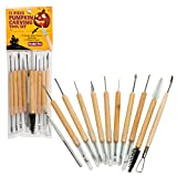 Pumpkin Carving Tools- Halloween Sculpting Kit with 11 Double Sided Pieces (21 Tool Set) for...