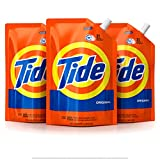 Tide Laundry Detergent Liquid, Original Scent, HE Turbo Clean, Pack of 3 Smart Pouches, 48 oz Each,...