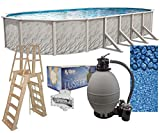 Meadows 18-Foot-by-33-Foot Oval Above-Ground Swimming Pool | 52-Inch Height | Steel-Sided Walls |...