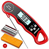 GDEALER DT09 Waterproof Digital Instant Read Meat Thermometer with 4.6' Folding Probe Calibration...