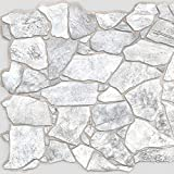 Wild Grey Stone PVC 3D Wall Panels - Interior Design Wall Paneling Decor Commercial and Residential...