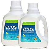 Earth Friendly Products ECOS 2X Liquid Laundry Detergent with Built in Softener, Lemongrass, 200...