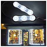 20FT Store Front LED Light Waterproof 40pcs 3led 2835 White LED Module Light, Plug and Play For...