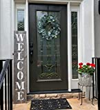 Welcome Sign for Front Porch Made with Real Rustic Reclaimed Wood - 5 feet Tall - Fixer Upper...