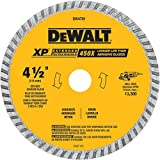 DEWALT DW4701 Industrial 4-1/2-Inch Dry or Wet Cutting Continuous Rim Diamond Saw Blade with...