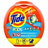Tide PODS Laundry Detergent Liquid Pacs, Clean Breeze Scent, HE Compatible, 81 Count (Packaging May...
