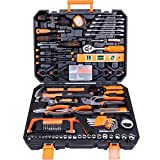 CARTMAN Tool Set 168Pcs Orange, General Household Hand Tool Kit with Plastic Toolbox, Electrician's...