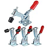 E-TING 4Pcs Hand Tool Toggle Clamp 201B Antislip Red Horizontal Clamp 201-B Quick Release Tool