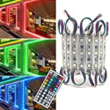 Storefront Lights, Pomelotree 2 Pack 3 Led 40PCS 5050 Super Bright LED Module Lights Waterproof...