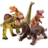 Boley 5 Piece Jumbo Dinosaur Set - Kids, Children, Toddlers Highly Detailed, Realistic Toy Set for...