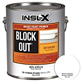 INSL-X TB110009A-01 Acrylic Exterior Tannin Blocking Products Corp TB1100099-01 Gallon White Black...