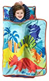 Jurassic World Save Our Dinos Toddler Nap Mat - Includes Pillow & Fleece Blanket - Great for Boys...