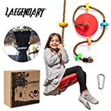 Climbing Rope Tree Swing with Platforms and Disc Swings Seat - Playground Swingset Accessories...