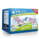 Hibag Space Saver Bags, 20 Pack Vacuum Storage Bags (2Small, 6Medium, 5Large, 5Jumbo, 2Jumbo+) with...