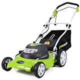 GreenWorks 20-Inch 12 Amp Corded Electric Lawn Mower 25022, 20 inch