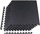 BalanceFrom 1' Extra Thick Puzzle Exercise Mat with EVA Foam Interlocking Tiles for MMA, Exercise,...