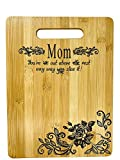 Mother's Gift - Mom Bamboo Cutting Board for Kitchen Mom Birthday Christmas Gift Engraved Side For...