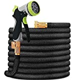 HYRIXDIRECT Garden Hose Lightweight Durable Flexible Water Hose with 3/4 Nozzle Solid Brass...