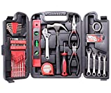 CARTMAN 136-Piece Tool Set - General Household Hand Tool Kit with Plastic Toolbox Storage Case
