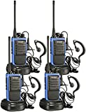 Arcshell Rechargeable Long Range Two-Way Radios with Earpiece 4 Pack UHF 400-470Mhz Walkie Talkies...