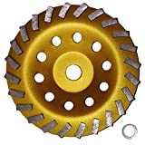 7' Concrete Turbo Diamond Grinding Cup Wheel for Angle Grinder 24 Segs