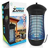 Electric Bug Zapper Mosquito Trap - Mosquito Killer with Insect Zapper Outdoor/Indoor Hook, 18W UVA...