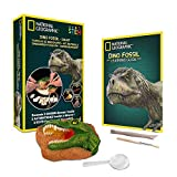 NATIONAL GEOGRAPHIC Dino Fossil Dig Kit - Excavate 3 real fossils including Dinosaur Bones &...
