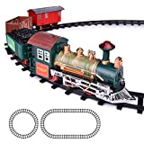 ArtCreativity Deluxe Train Set for Kids | Battery-Operated Toy with 4 Cars and Tracks | Durable...